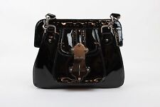 Tracy Reese - Black Patent Leather Frame Shoulder Bag Satchel Purse Handbag