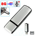 New 8GB USB Voice Recorder Flash Drive Disk Spy Memory Key Dictation Machine AU