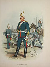 1905 ANTIQUE MILITARY PRINT ~ VICTORIAN ARTILLERY~ BRITISH IMPERIAL FORCES