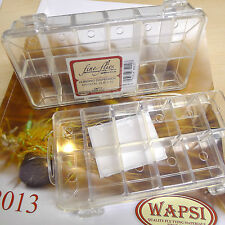 Dubbing Dispenser Box Wapsi USA 12 Fächer transparent Leer-Box WIEDER DA!