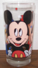 Vintage Walt Disney Mickey Mouse Minnie Donald Duck 12 oz Glass Tumbler - NEW