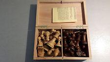 Vintage Profi Schachspiel Echtholz Harder&Schöler braun weiss Holzbox König 82mm