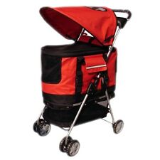 New Red Ultimate 4 In 1 Pet Stroller/Carrier/CarSeat