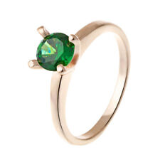 Fashion jewelry Womens gold Filled wedding engagement Emerald Ring Size 8