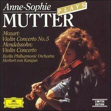 ANNE-SOPHIE MUTTER PLAYS MOZART / MENDELSSOHN - violin cd - Herbert von Karajan