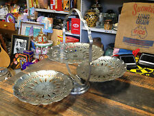 BRT Original Vintage portable Folding 3 Tier plate Cake Stand Retro Hong Kong