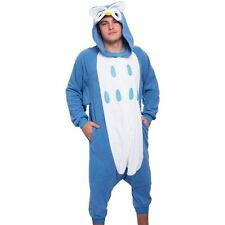 SILVER LILLY UNISEX ADULT PAJAMAS - PLUSH ONE PIECE COSPLAY ANIMAL BLUE OWL