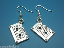 Cassette Earrings - mixtape geek nerd earrings retro funky jewelry funny earring