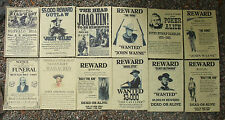 OUTLAWS LAW-DOGS  WILD WEST POSTERS, Novelty reproductions, SET F, Western