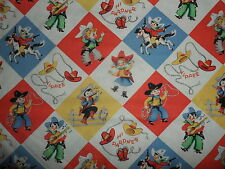 Michael Miller Yippee Cowboy Retro 100% Cotton Fabric sold by HALF METRE
