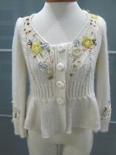 Anthropologie Knitted & Knotted Cropped Sweater Cardigan S