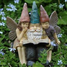 Miniature Fairy Garden  Storytime Gnome with Fairies / Garden Faerie