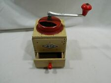 KYM Coffee Grinder Mill German Mid Century Modern Red Polka Dots 9341 Vintage