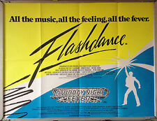 Cinema Poster: FLASHDANCE/SATURDAY NIGHT FEVER 1983 c. (Double Bill Quad)