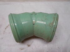 "Unused, Dirty, Sewer PVC Pipe Gasketed Tigre 4"" 22.5 degree Elbow SDR-26"