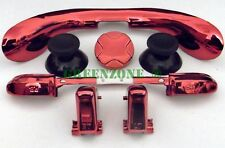 Custom Xbox 360 Controller Chrome RED Mod Kit Triggers, Thumbsticks, Dpad