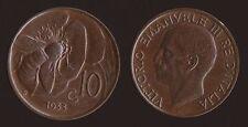 10 CENTESIMI 1933 APE - VITTORIO EMANUELE III Q.FDC QUASI FIOR DI CONIO