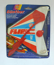Vintage Günther Flugspiele FLIP Schleudersegler Katapult Glider MIP OVP 1980's
