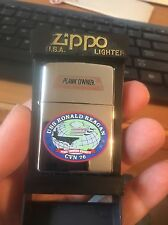 Zippo USS Ronald Reagan CVN 76 Navy Aircraft Carrier Plank Owner *NEW*NEVER USED