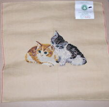 """""""Cats / Kittens"""" Preworked Penelope Needlepoint Canvas"""
