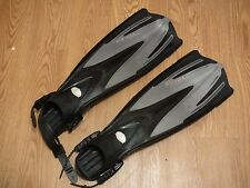 Tusa Imprex Tri Ex Diving Fins US SIZE 8-10 Medium M Black Gray