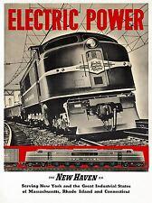 ART PRINT Poster Voyage Train électrique moteur ferroviaire new england usa nofl1315