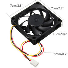 12V 9 Blades 70mm 3Pins PC CPU Cooler Host Chassis Computer Case IDE Fan Cooling