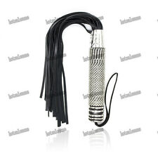 Full Crystal bling Handle Whip Bondage Fetish flogger Show Cosplay Roleplay