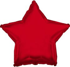 "18"" Solid Red Star Shape Balloon Wedding Baby Shower Birthday Over Hill Bridal"