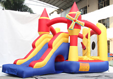 BestParty Spinning Windmill Castle Jumping Inflatable Bouncer with Blower