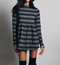 FREE PEOPLE WE THE FREE NWT, MOD ABOUT IT STRIPPED TUNIC IN GREY COMBO S $68.00