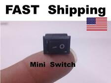 2x - Mini Small Switch -  250V AC 3A ---- 125V AC 6A ---- On Off --- 12v DC 5A
