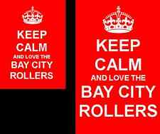 Keep Calm And Love The Bay City Rollers 2 Sided Keyring And Fridge Magnet Set