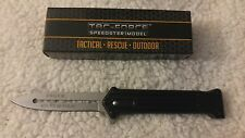"Joker Why So Serious Black w/Silver Blade Assisted Opening TacForce Knife 8"" New"