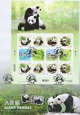 Hong Kong FDC 2008 Giant Panda stamp sheetlet Special PM HK151996