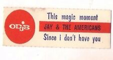 STICKER JUKE BOX - JAY AND THE AMERICANS - THIS MAGIC MOMENT - SINCE I DON'T -S8