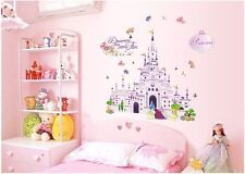 Disney Princess Castle Cortoon Removable Wall Sticker Decal For Girl Kid Bedroom