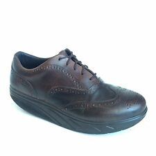 MBT Mens Brown Leather Shoes Size 13 Milano Lace Up Wingtip Oxfords UK 12