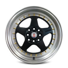4 x HR2 DEEPDISH SPORTS MAGS WHEELS ALLOY 15x7.0 8x100/114.3 et33 FLAT BLACK
