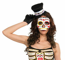 THE DAY OF DEAD MEXICAN SUGAR SKULL FEMALE HALLOWEEN FACE MASK