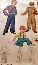 LOVELY VTG 1940s BOYS LUMBER JACKET & TROUSERS Sewing Pattern 4