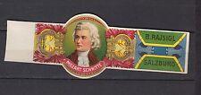 Ancienne  Bague  de Cigare Label    Musique Mozart
