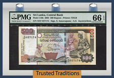 TT PK 119b 2004 SRI LANKA 500 RUPEES PMG 66 EPQ GEM UNCIRCULATED POPULATION ONE!