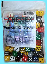 CHESSEX Pound-O-D6's DICE BAG ASSORTED COLORS 6 Sided d6 Approx 100 die 12 16 mm