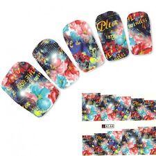 Nagel Sticker Aufkleber Kunst Bild Blumen Nail Art Nägel Fuß Water Decal