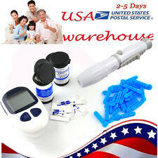 HOT Blood Glucose Monitor Diabetes Test Meter Monitor Kit Glucometer US!