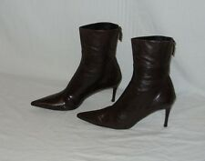 GUCCI - DARK BROWN MID-CALF ZIP-UP BOOTS - UK 7 C (EU 41 C)(US 9.5 C) FAB CON
