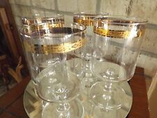 12 Gold Rim Large WINE GLASSES HAND MADE FROM ITALY