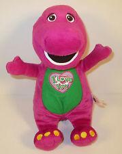 """2008 Barney 11"""" Plush Stuffed Action Figure Barney & Friends by Jakks Pacific"""