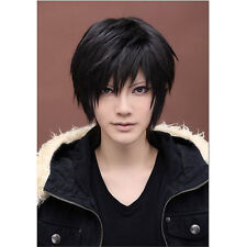 Fashion men cosplay handsome wig DuRaRaRa Orihara Izaya Black straight wig NC12
